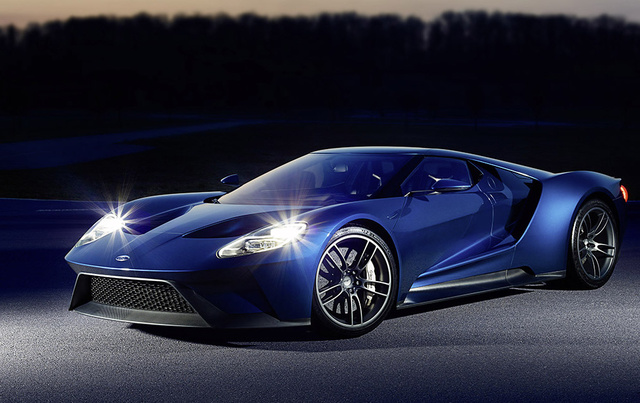 2017 Ford GT, Front-quarter view., exterior, manufacturer, gallery_worthy
