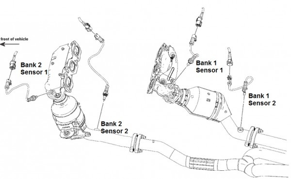 Ford Taurus Questions - Location to change o2 sensor bank 2 on ...