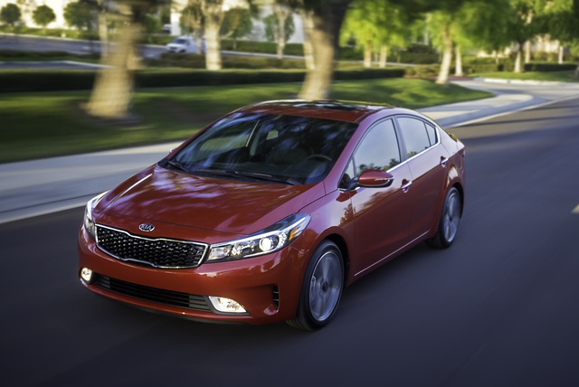 2017 Kia Forte, Front-quarter view., gallery_worthy