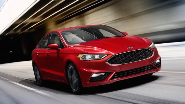 2017 Ford Fusion, Front-quarter view., exterior, manufacturer, gallery_worthy