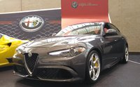 2017 Alfa Romeo Giulia Quadrifoglio front-quarter view, exterior, gallery_worthy