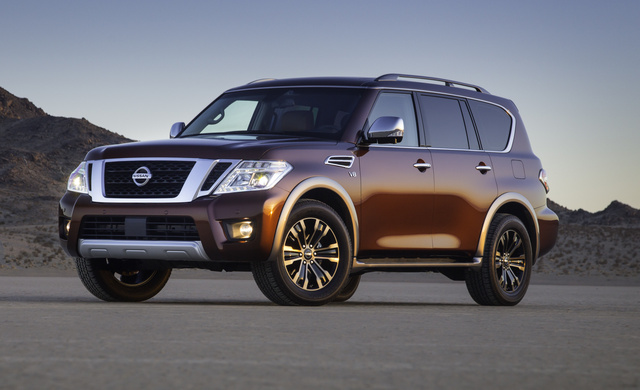 2017 Nissan Armada, Front-quarter view., gallery_worthy