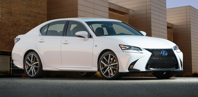 2016 Lexus GS 450h, Front-quarter view., exterior, manufacturer, gallery_worthy