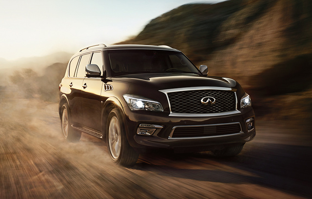 2016 INFINITI QX80, Front-quarter view., exterior, manufacturer, gallery_worthy