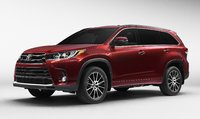 2017 Toyota Highlander front-quarter view, manufacturer, gallery_worthy