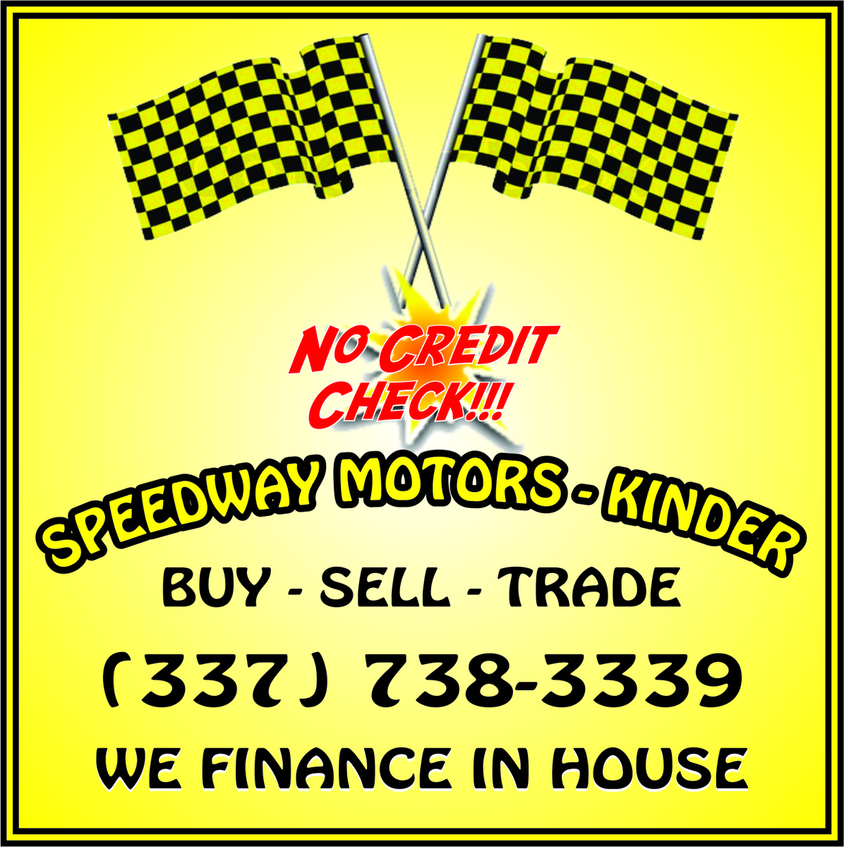 Speedway motors kinder kinder la read consumer reviews for Speedway motors lake charles