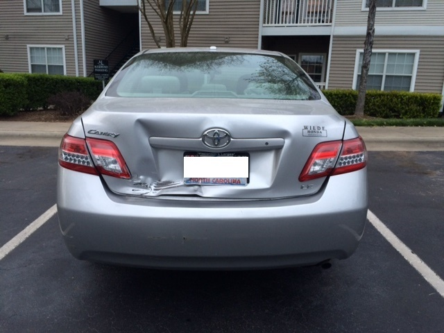 toyota camry questions toyota camry rear ended damage to trunk