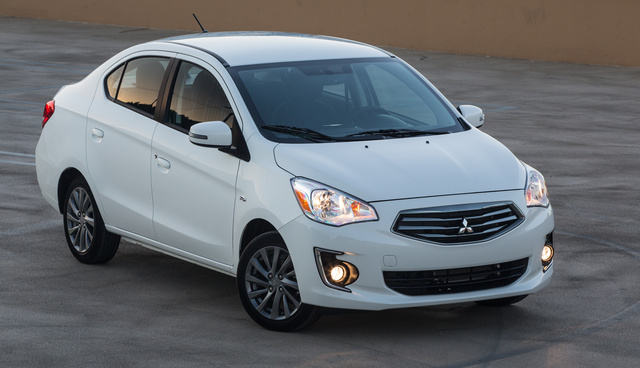 2017 Mitsubishi Mirage G4, Front-quarter view., exterior, manufacturer, gallery_worthy