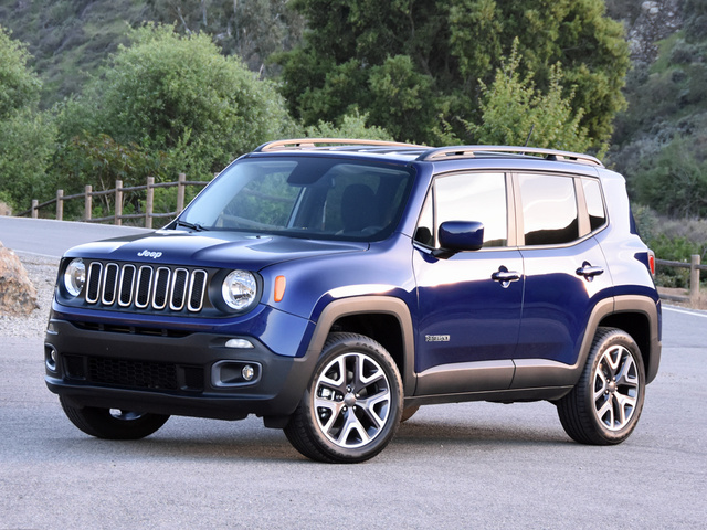 2016 Jeep Renegade Latitude 4WD, 2016 Jeep Renegade Latitude in Jetset Blue, exterior