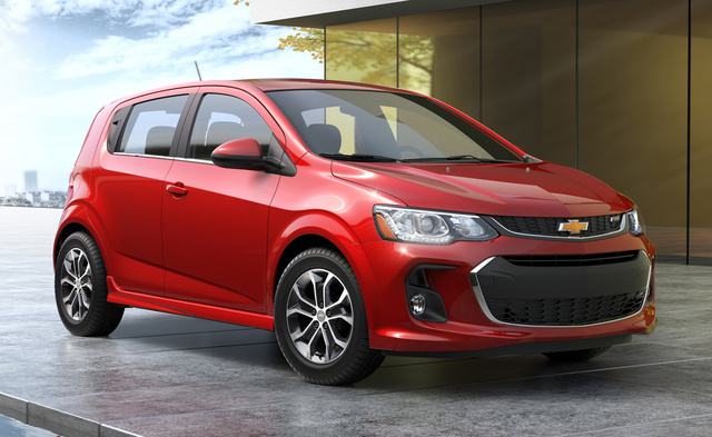 2017 Chevrolet Sonic, Front-quarter view. Copyright General Motors., exterior, manufacturer