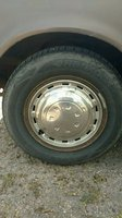 1974 Toyota Corona, Front Drivers Side Wheel and Tire, exterior