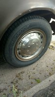1974 Toyota Corona, Front Passenger Side Wheel and Tire, exterior