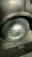 1974 Toyota Corona, Rear Passenger Side Wheel and Tire, exterior