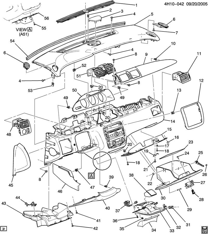 Buick Lucerne Instrument Panel Diagram