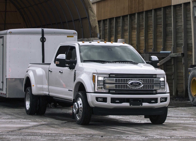 2017 Ford F-450 Super Duty, Front-quarter view., exterior, manufacturer, gallery_worthy