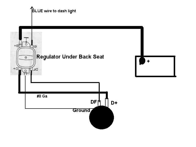 voltage regulator wire diagram voltage regulator ext how it works ...: model a wiring diagram with 6 volt generator at sanghur.org