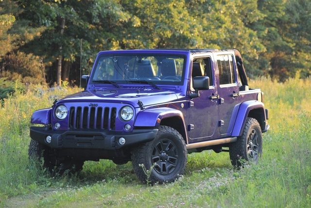 Exterior of the 2016 Jeep Wrangler Unlimited