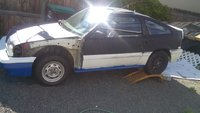 1986 Honda Civic CRX, So sad still needs some work but she drives great, exterior