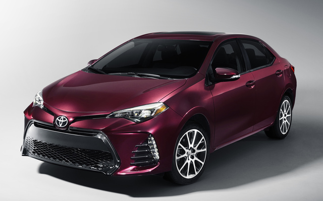 2017 Toyota Corolla, Front-quarter view., exterior, manufacturer