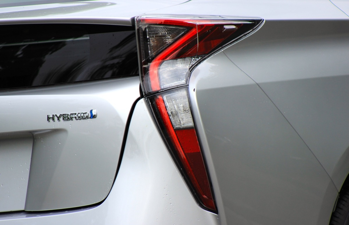 Exterior of the 2016 Toyota Prius