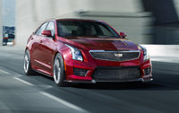 2017 Cadillac ATS-V, Front-quarter view. Copyright General Motors., exterior, manufacturer