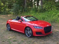 2016 Audi TT 2.0T quattro Roadster AWD, 2016 Audi TT Roadster, Front Three Quarter View, Top Down, exterior, gallery_worthy