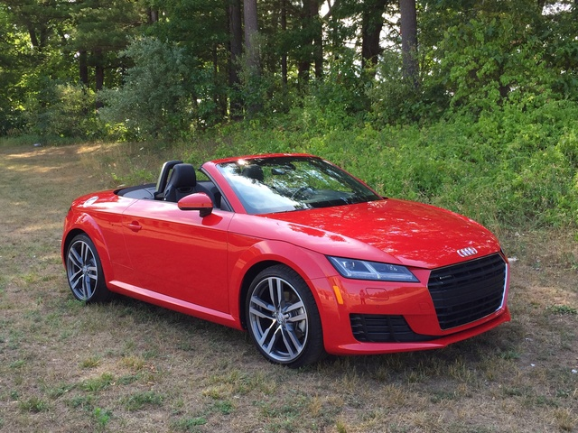 2016 Audi TT Roadster, Front Three Quarter View, Top Down