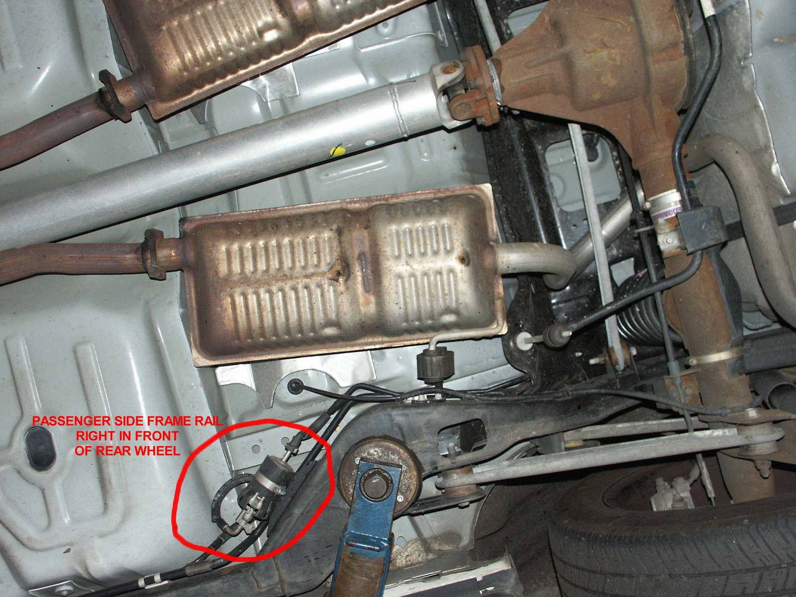 97 Mustang Gt Fuel Filter Location Wiring Library Ford Ltd Crown Victoria Questions Where Is The On A Line Replacement