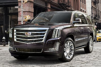 2017 Cadillac Escalade, Front-quarter view. Copyright General Motors., exterior, manufacturer, gallery_worthy