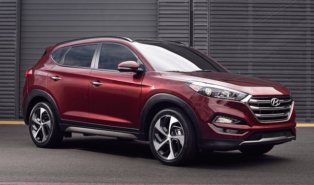 2017 Hyundai Tucson, Front-quarter view., exterior, manufacturer, gallery_worthy
