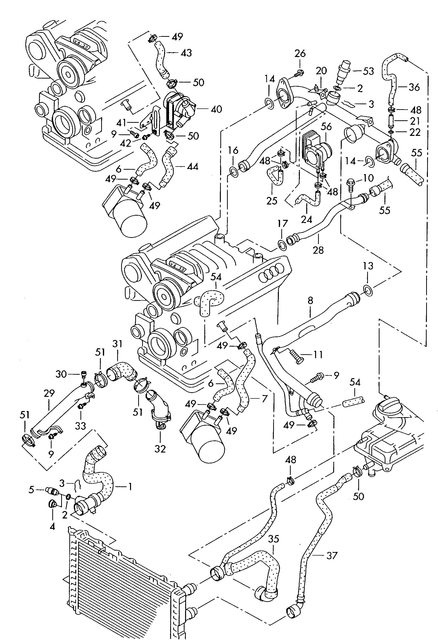 audi a4 questions help finding a4 3 0 coolant pipe cargurus Car Engine Cooling Diagram Audi Engine Cooling Diagram #5