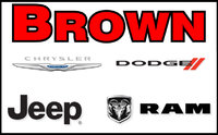 Brown Chrysler Jeep Dodge Ram logo