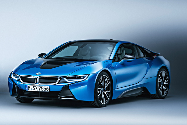 2016 BMW i8, Front-quarter view., exterior, manufacturer, gallery_worthy