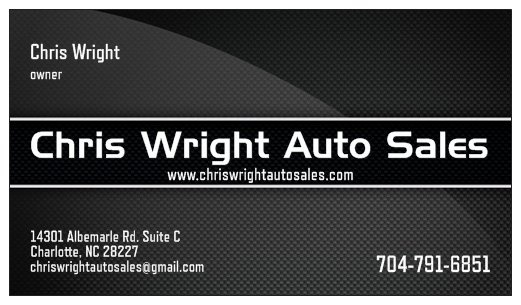 Chris Wright Auto Sales - Charlotte, NC: Read Consumer ...
