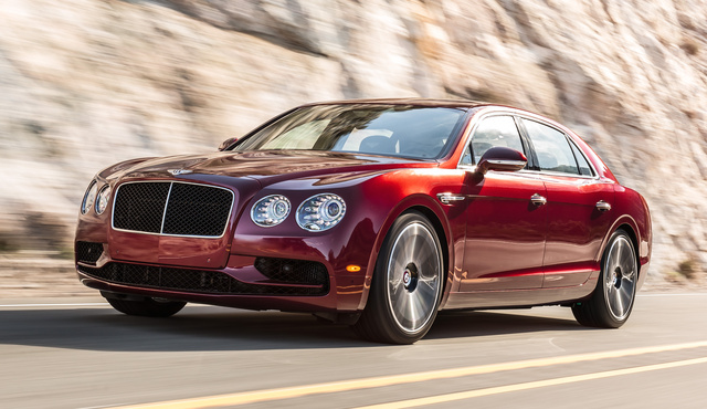 2017 Bentley Flying Spur, Front-quarter view., exterior, manufacturer, gallery_worthy