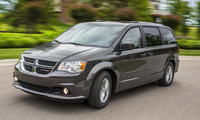 2017 Dodge Grand Caravan, Front-quarter view., exterior, manufacturer