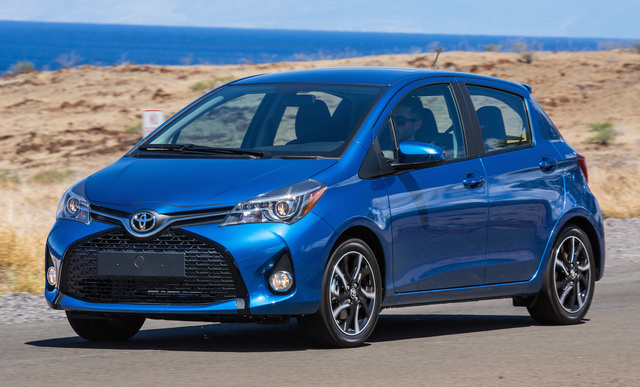 2017 Toyota Yaris, Front-quarter view., exterior, manufacturer, gallery_worthy