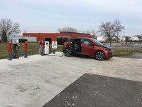 2014 BMW i3 Base w/ Range Extender, Charging via DC fast charger on visit to hometown., exterior