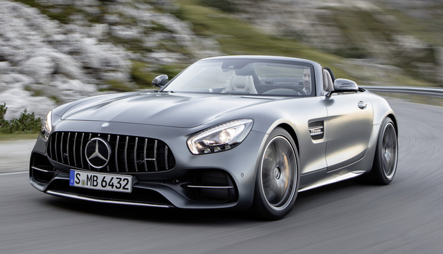 2017 Mercedes-Benz AMG GT, Front-quarter view., exterior, manufacturer, gallery_worthy