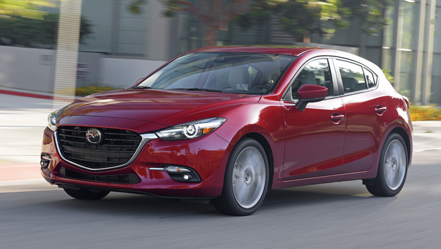 2017 Mazda MAZDA3, Front-quarter view., gallery_worthy