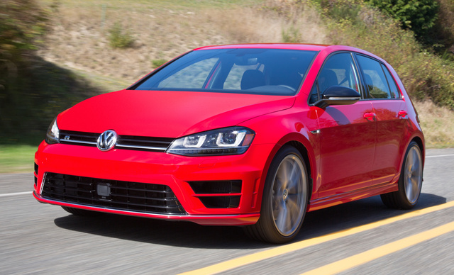 2017 Volkswagen Golf R, Front-quarter view., gallery_worthy