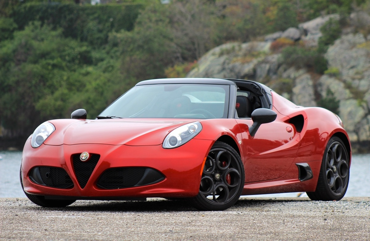 Exterior of the 2016 Alfa Romeo 4C Spider