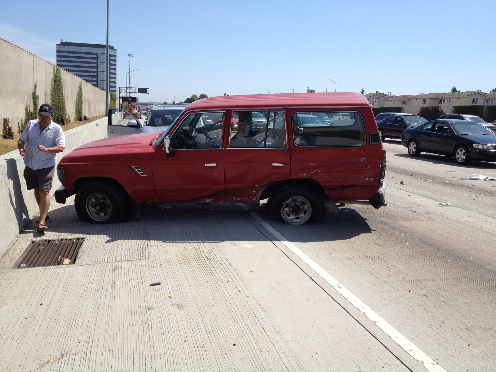 Toyota Land Cruiser Questions Are Old 1984 1989 Cruisers Safe 1973 Owners Manual From Behind On The Freeway Luckily I Was Able To Find A Donor Vehicle With Good Driver Side Body Parts