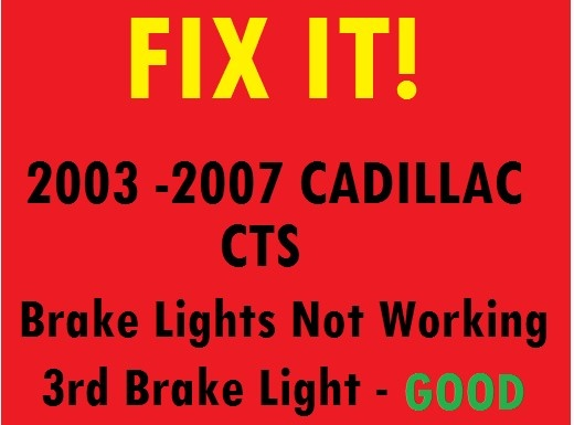 Cadillac CTS Questions - Why don't the ke lights come on ... on