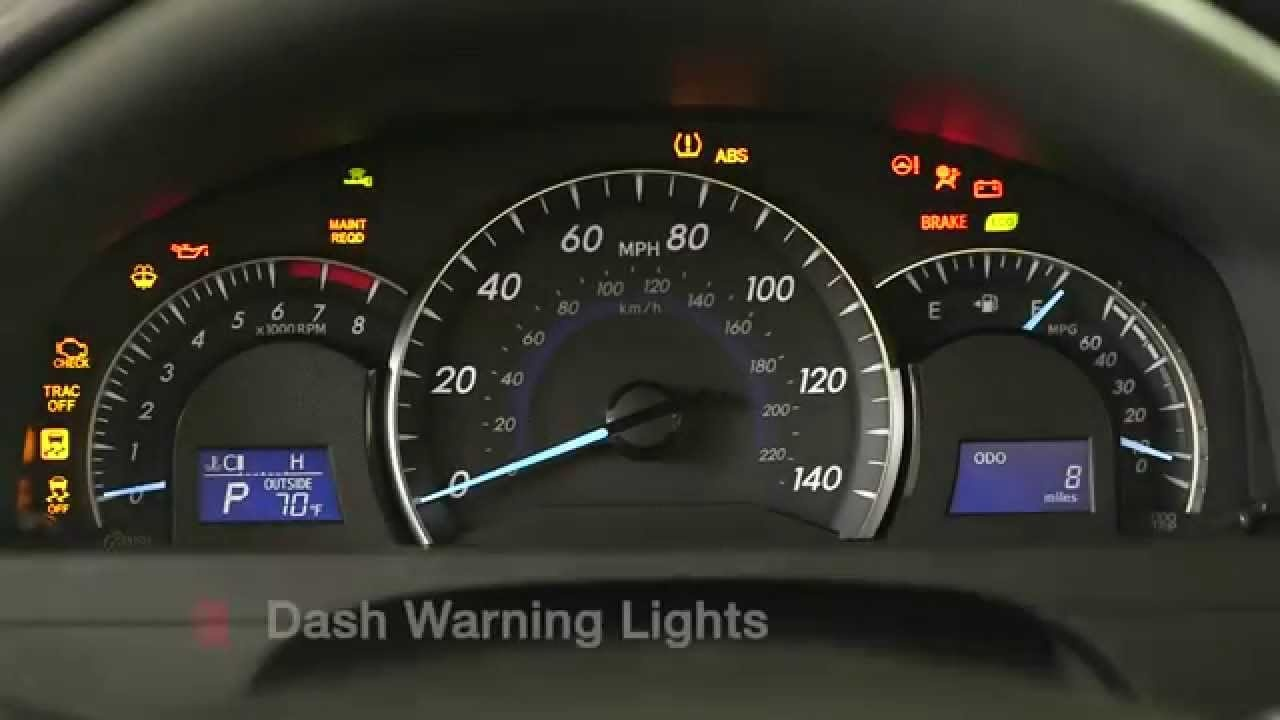 Toyota Camry Questions What Does Mean On The Left Side