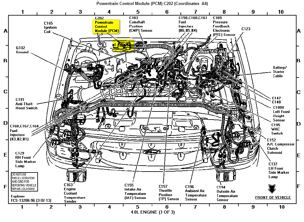 ford explorer questions where is the computer located on a 2005 rh cargurus com ford explorer engine diagram 4.0 ford explorer engine diagram 4.0