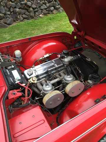 Picture of 1966 Triumph TR4A, engine