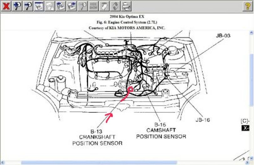 2004 kia amanti camshaft sensor replacement