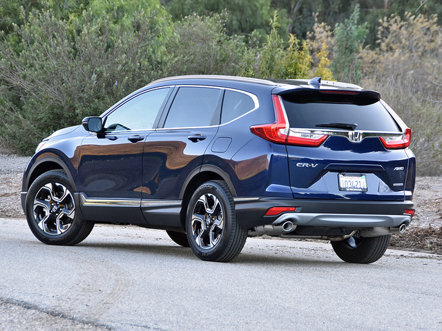 2017 Honda CR-V Touring AWD, 2017 Honda CR-V Touring in Obsidian Blue ...