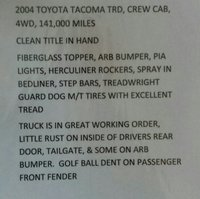 Picture of 2004 Toyota Tacoma 4 Dr V6 4WD Crew Cab SB
